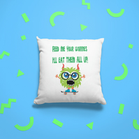 Worry Monster Cushion