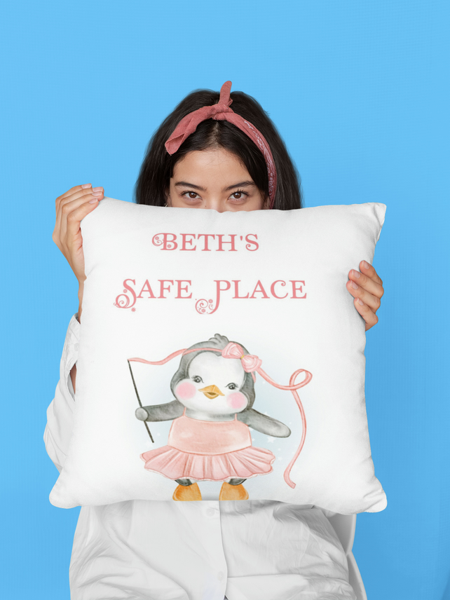 Personalised Safe Place Cushion Choice of Designs