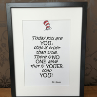 Dr Seuss Quoted Wooden Frame