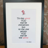 Dr Seuss Quoted Wooden Photo Frame