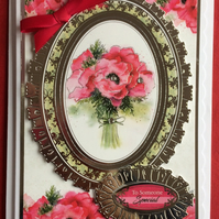 3D Luxury Handmade Card Red Poppies To Someone Special by Poppy Kay Designs