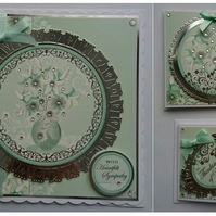 3D Luxury Handmade Cards Set of 3 With Sympathy Lilies by Poppy Kay Designs