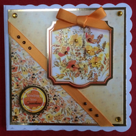 3D Luxury Handmade Card Sending You Sunshine Poppies by Poppy Kay Designs
