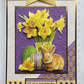 3D Luxury Handmade Card Easter Wishes With Lots of Love and Bunny Hugs