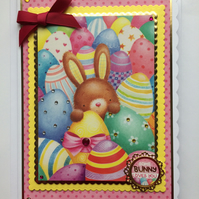 3D Luxury Handmade Easter Card Some Bunny Loves You Birthday Anniversary