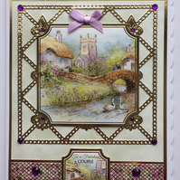 3D Luxury Handmade Card With Love and Best Wishes Fabulous Couple Anniversary