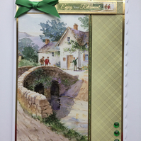 3D Luxury Handmade Card Relax and Enjoy Your Retirement Village Gentlemen