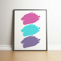 Unicorn Colour Paint Splodges - Digital Print