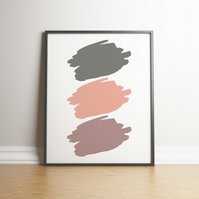 Shades Of Nudes Paint Splodges - Digital Print