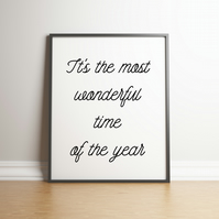 It's The Most Wonderful Time Of The Year  Downloadable Artwork - Christmas Decor