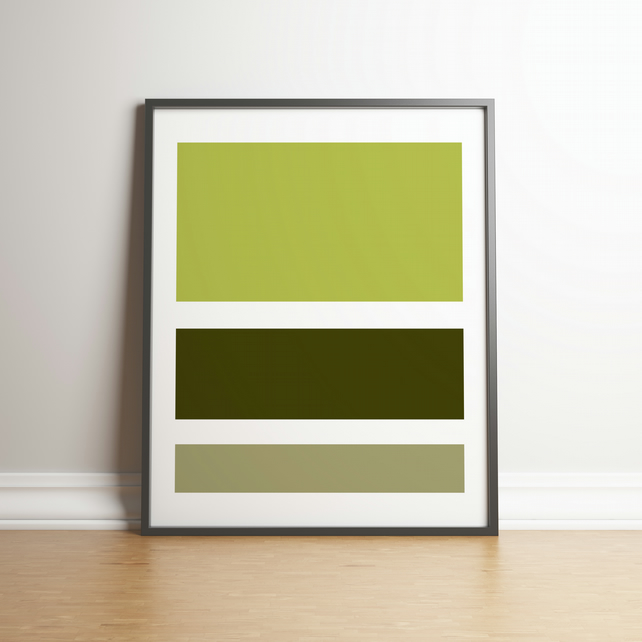 "Printable ""Shades of Chartreuse Colour Block""  Digital Art 2020 Design Trend"