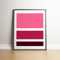 "Printable ""Pink and Purple Colour Block"" Digital Art - 2020 Design Trend"