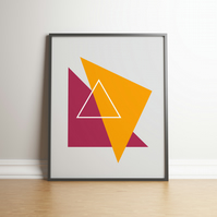 "Printable ""Plum and Mustard Geometric"" Digital Art - 2020 Design Trend"