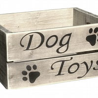 Dog Toy Box Wooden Gift Crate 6 Weathered Colours and Personalise For Free