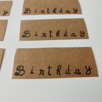 Handmade Writable Birthday Stickers, planner stickers, notebook stickers