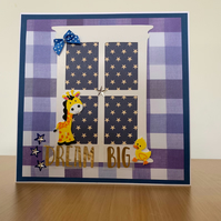 Dream big new baby card