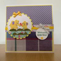 Welcome little one new baby card