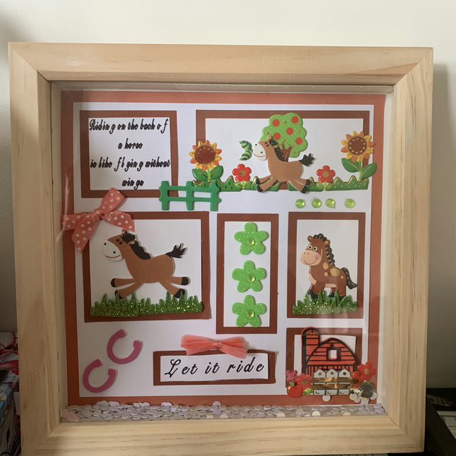 Horse quote box frame