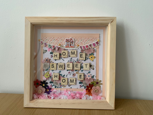 Home sweet home box frame