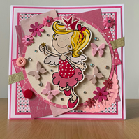 Pink fairy birthday wishes