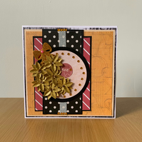 Floral gold with love sympathy card