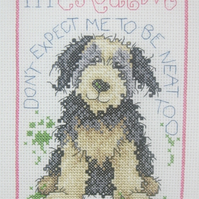 Handmade Completed Cross Stitch 'I'm Creative'