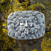 Green Man Belt Buckle
