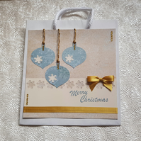 Hand decorated quality paper gift bag - Baubles