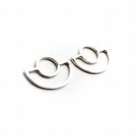 Simple geometric ART DECO earrings made from ECOSILVER