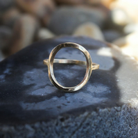 Golden Open circle ring