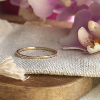 Golden super thin stacking rings