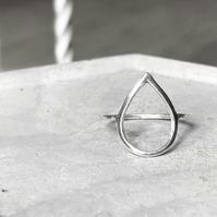 Geometric sterling silver ring DROP