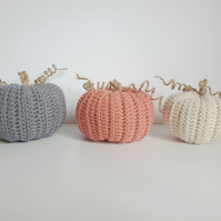 Crochet Pumpkins, Fall Decor, Autumn Decor, Rustic Pumpkins, Fall Wedding Decor