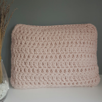 Pink Crochet Cushion, Pink Cushion, Pink Pillow, Scatter Cushion, Cushion,