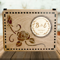 Personalised Flower Marquetry Memory Box