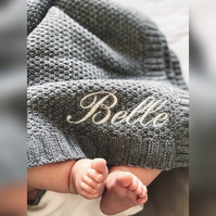 Personalised organic baby blanket