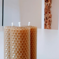 Beeswax Candles Made in Wales