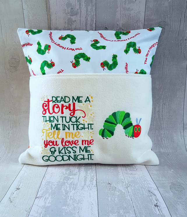 The hungry caterpillar reading cushion