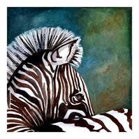Striped Beauty - Original Watercolour