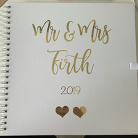 Large Personalised Wedding Guest Book