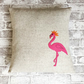Animal Cushion Cover Pink Flamingo