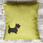 Animal Cushion Cover Scottie Dog
