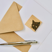 Oak cat blank greeting card