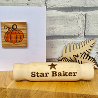 Mini Star Baker Rolling Pin - Unique Kitchen Gift . Free UK P&P