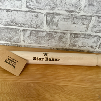 Personalised Star Baker Rolling Pin - Unique Kitchen Gift. Free UK P&P