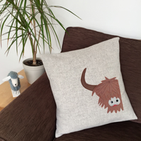 Highland Cow  Animal Cushion Luxury Wool Cushion