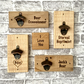 Bottle Opener Wall Plaque can be personalised