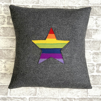 Rainbow Star Cushion