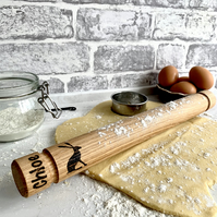 Solid Oak Hare Rolling Pin