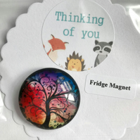 Tree Magnet on Card with Thinking of you Quote Perfect Small Thoughtful Gift
